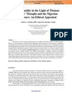 Homosexuality in the Light of Thomas Aquinas' Thought and the Nigerian Experience..