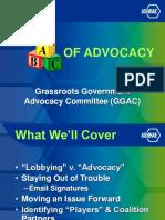 ABC of ADVOCACY