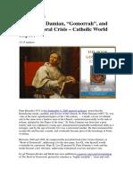 Saint Peter Damian, Gomorrah, And Today's Moral Crisis