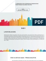 City Buildings Silhouettes and Colors PowerPoint Templates Widescreen