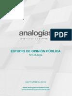 Estudio Nacional de Opinión (Septiembre) - Consultora Analogías