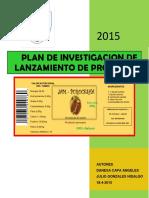 Plan de Investigacion de Producto de Lanzamiento