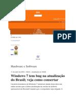Bug Windows 7