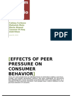 Final Report - Peer Pressure on Consumer Behavior