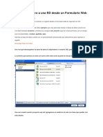 Insertar Registro a Una BD Desde Un Formulario Web en C