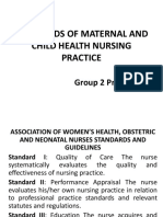Standards of Maternal and Child Health Nursing Practice Powerpoint (1)