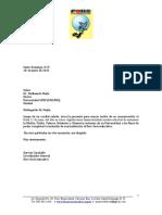Carta Agradecimiento UNAPEC-Mision, Vision, Valores, Estatutos y Memoria