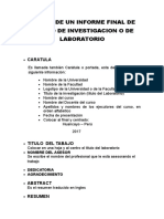 Partes de Un Informe Final de Laboratorio 3