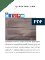 Makalah Karya Tulis Ilmiah Untuk Ujian Dinas