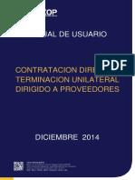 MANUAL PARA PROVEEDORES Contratación Directa y Terminación Unilateral