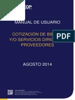 Manual para proveedores Cotizacion de Bienes y Servicios