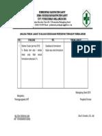 8.2.1.8 Analisa Tindak Lanjut Evaluasi Kesesuaian Peresepan Terhadap Formularium