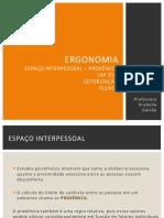 ERGONOMIA Proxêmica e Setorização