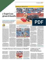 El Comercio (Lima-Peru) Lun 28 Mayo 2018 (Pag A29) Pagina Taurina