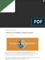 Conexión a BD con mysqli en PHP