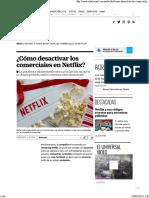 Desactivar Comerciales Netflix