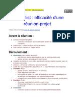 Copie de Fiche _Check-List d'Efficacité d'Une Réunion-projet