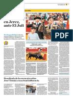 El Comercio (Lima-Peru) Lun 14 Mayo 2018 (Pag A29) Pagina Taurina