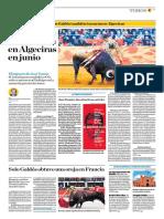El Comercio (Lima-Peru) Lun 7 Mayo 2018 (Pag A33) Pagina Taurina