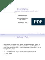 Linear Algebra Talk