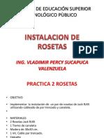Instalacion de Rosetas