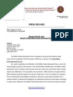 Greg Lauer Named To Multi-Million Dollar Advocates Forum Press Release Aug. 2018