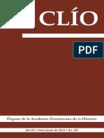 Revista Clío, Año 83 • Enero-junio de 2014 • No. 187