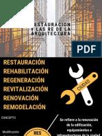 Restauracion y Las Re de La Arquitectura