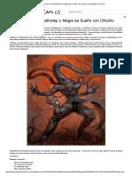 Invocación de Nyarlathotep y Magia de Sueño Con Cthulhu _ Habitantes Del Caos