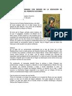 Advocaciones Marianas Con Énfasis en La Educación de Nuestra Señora Del Perpetuo Socorro