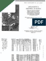 Apologética historia sumaria de Bartolomé de las Casas