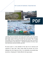 Waterfront Clean Up Blog