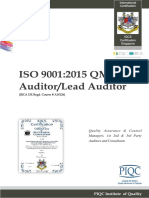ISO 9001-2015 QMS Auditor/Lead Auditor