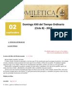 Domingo XXII Del Tiempo Ordinario (B)