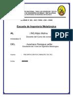 Informe de Concentracion 2 Falta Terminar