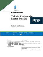 modul 11 Teknik Kutipan dan Penulisan DAftar Pustaka.docx