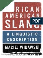 Afro American Slang