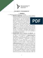 Reglamentos y Procedimientos de La Red Latinoamericana de Jovenes Por La Democracia
