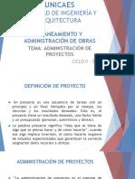 CLASE 02 - PAO 2018. ADMON DE PROYECTOS.pptx