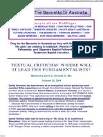 Textual Criticism  Where Will It Lead