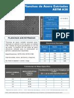 605003 Planchas Estriada a36