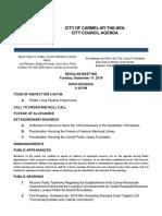 City Council Regular Agenda 09-11-18
