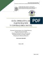 Contraloria Social Guia Operativa 2016