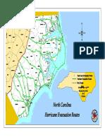 NC Hurricane Route Map