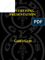 Golds Gym Advertising Presentation