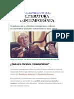10 Características de La Literatura Contemporánea