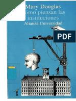 Douglas Mary Como Piensan Las Instituciones