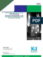 Sitara Peroxide annual report 2007