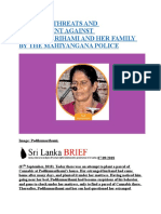 TORTURE, THREATS AND HARASSMENT AGAINST PODIKUMARIHAMI AND HER FAMILY BY THE MAHIYANGANA POLICE.docx