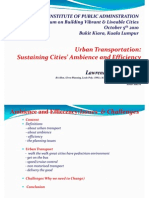 Public Transportation Sustaining Cities' Ambience and Efficiency